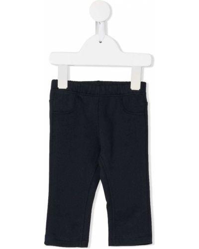 Синие прямые спортивные брюки с поясом Il Gufo