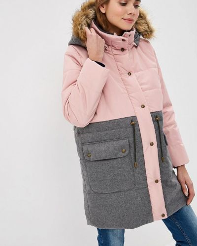 Утепленная куртка осенняя розовая мамуля красотуля ..в ожидании чуда
