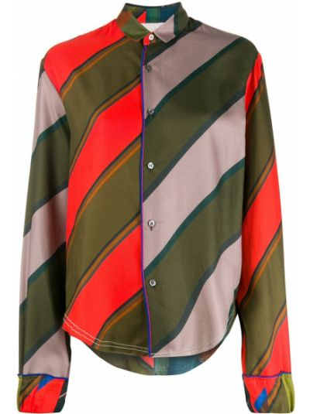 Классическая классическая рубашка с воротником с нашивками Rohka