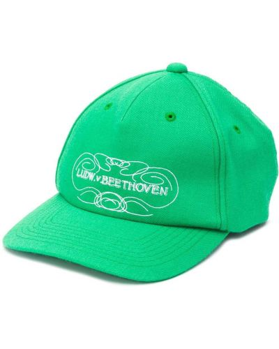 Zielona czapka wełniana z printem Undercover