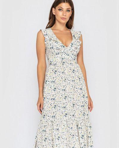 Прямое платье - бежевое Sfn