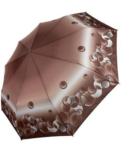 Прямой серебряный складной зонт Sl