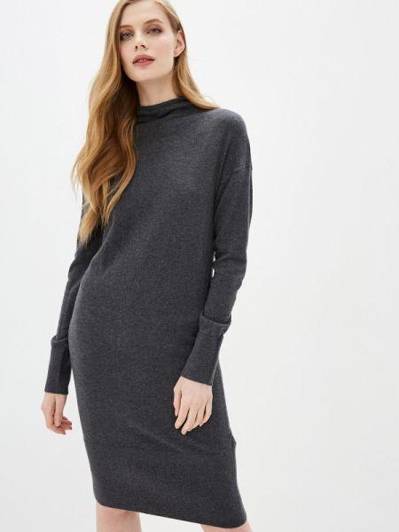 Платье серое вязаное Sela