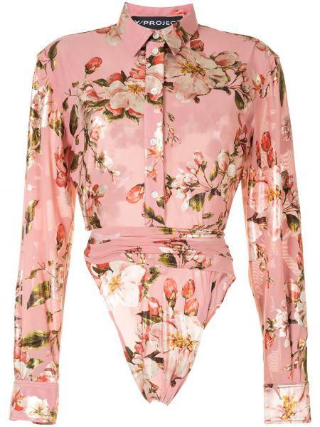 Рубашка с длинным рукавом - розовая Y Project