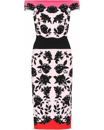 Розовое вязаное платье Alexander Mcqueen