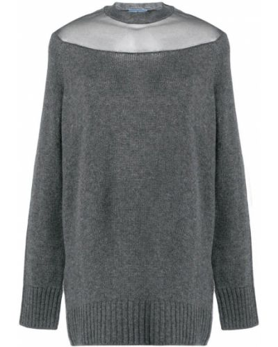 Серый свитер Prada