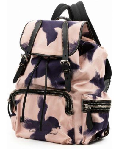 Różowy plecak Burberry Vintage