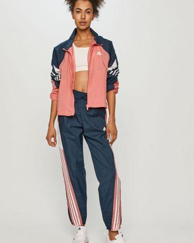 Różowy dres materiałowy Adidas Performance