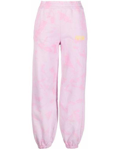 Różowy dres bawełniany z printem Versace Jeans Couture