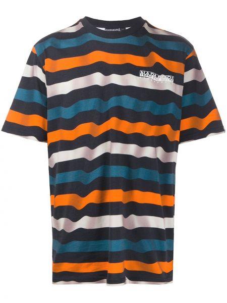 Koszula krótkie z krótkim rękawem z paskami w paski Napapijri