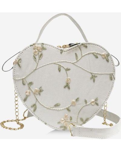 Белая сумка через плечо с вышивкой Zaful