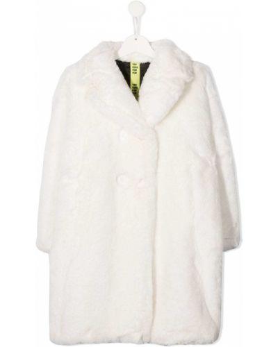С рукавами белая длинная шуба из искусственного меха Too Cool For Fur Kids