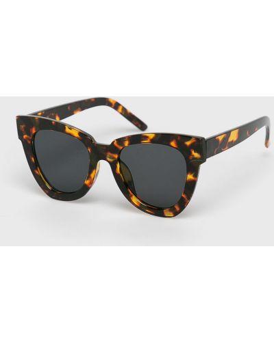 Солнцезащитные очки кошачий глаз коричневый Answear
