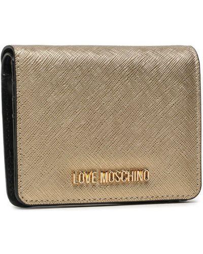Złoty portfel Love Moschino