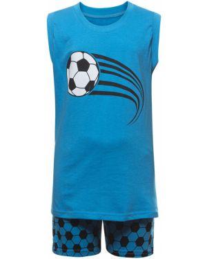 Хлопковый с рукавами повседневный спортивный костюм M&d
