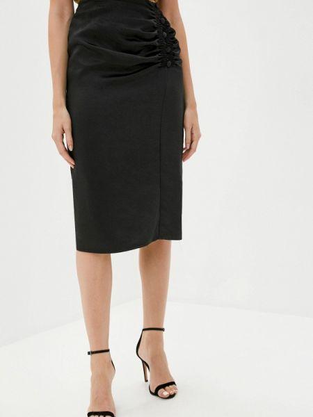 Черная прямая юбка карандаш B.style