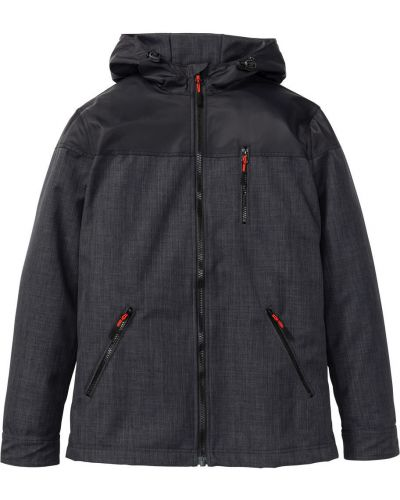 Куртка с капюшоном на резинке софтшелл Bonprix