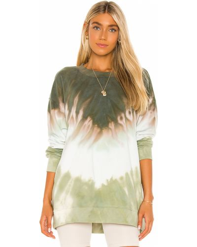 Bawełna bawełna bluza z mankietami z dekoltem Wildfox Couture