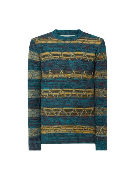 Niebieski sweter bawełniany Anerkjendt
