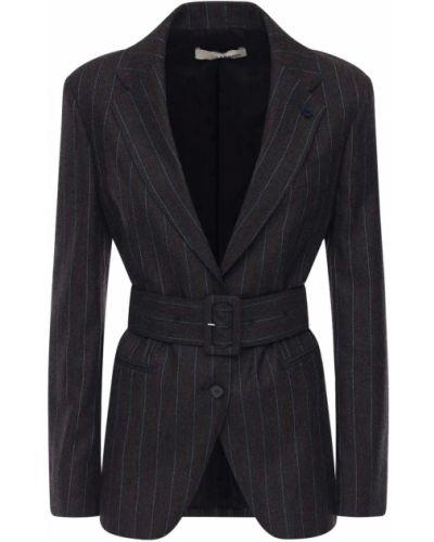 Шерстяной пиджак с поясом Lardini