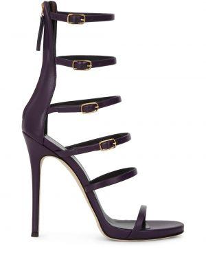 Кожаные сандалии с пряжкой на каблуке Giuseppe Zanotti