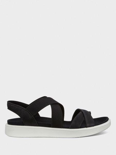 Текстильные открытые брендовые сандалии Ecco