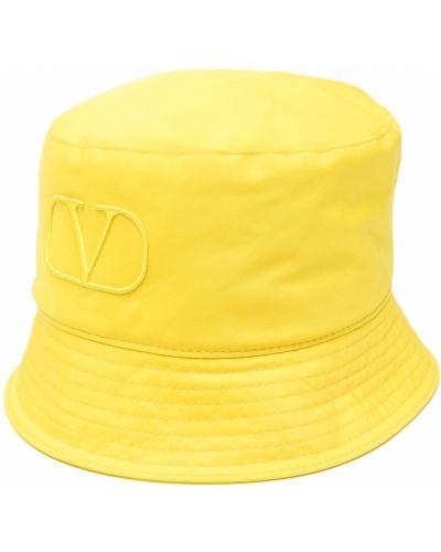 Kapelusz bawełniany - żółty Valentino