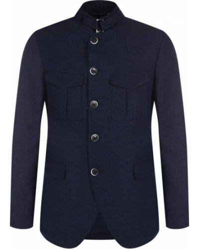 Куртка льняная темно-синяя Baldessarini