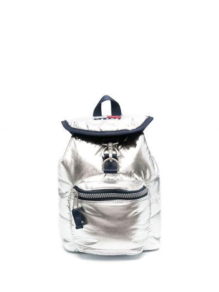 С ремешком льняная маленькая сумка с заплатками Tommy Hilfiger