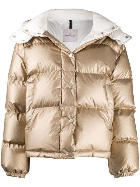Klasyczny z rękawami bawełna bawełna kurtka z kapturem Moncler