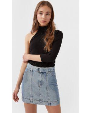 Юбка мини джинсовая маленький Stradivarius