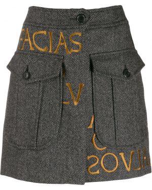Юбка мини с завышенной талией юбка-шорты Moschino