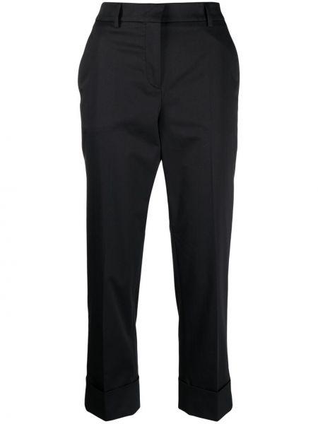 Хлопковые черные брюки узкого кроя Incotex