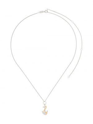 Серебряное ожерелье с подвесками позолоченное True Rocks