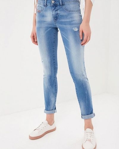 Голубые рваные джинсы Diesel