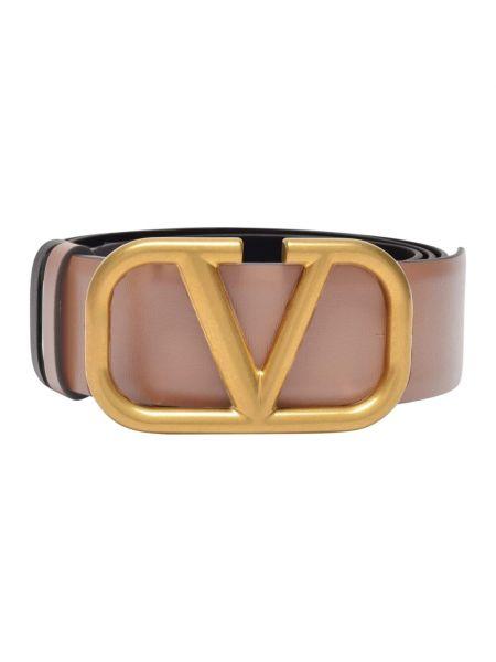 Brązowy pasek z paskiem Valentino