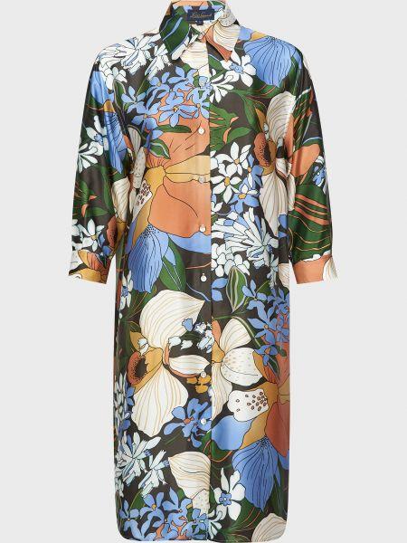 Шелковое платье на пуговицах Luisa Spagnoli