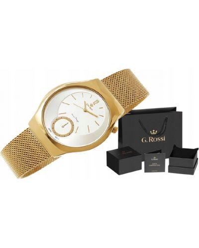 Srebro złoty zegarek Gino Rossi