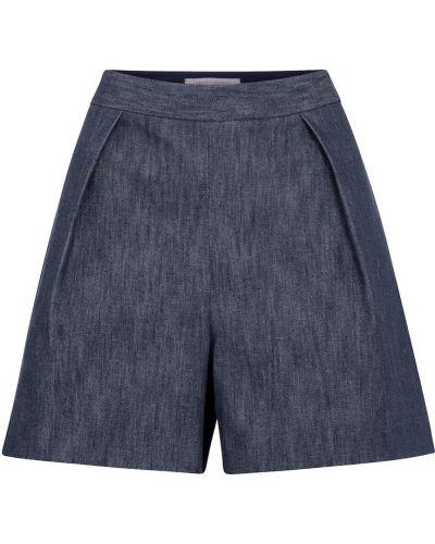 Ватные синие хлопковые джинсовые шорты Carolina Herrera
