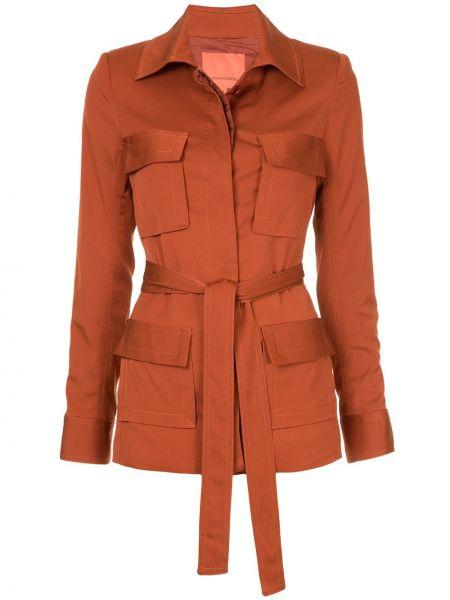 Коричневый классический пиджак с карманами с воротником Manning Cartell