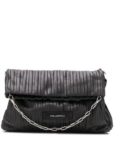 С ремешком черная сумка на цепочке на бретелях Karl Lagerfeld