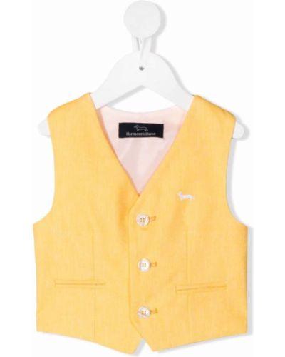 Żółta kamizelka bawełniana bez rękawów Harmont & Blaine Junior