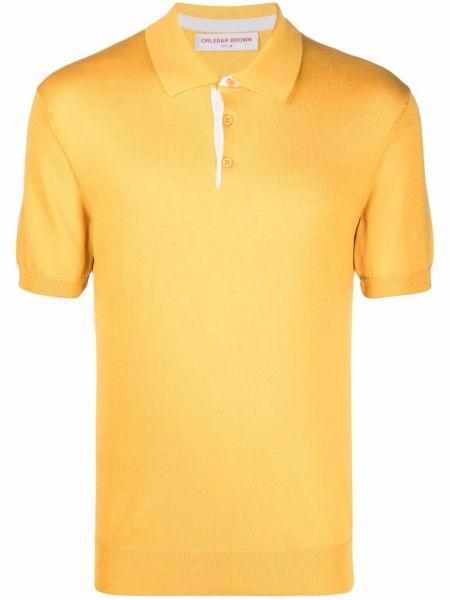 Рубашка с коротким рукавом - желтая Orlebar Brown
