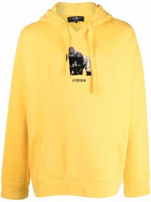 Żółta bluza z nadrukiem z printem Hydrogen