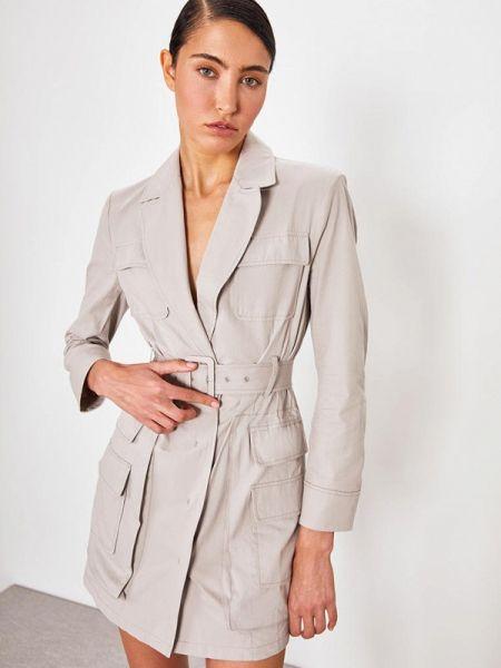 Платье серое платье-пиджак Lime