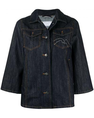 Синяя джинсовая куртка с вышивкой с воротником Société Anonyme