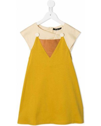 Желтое платье с рукавами Owa Yurika