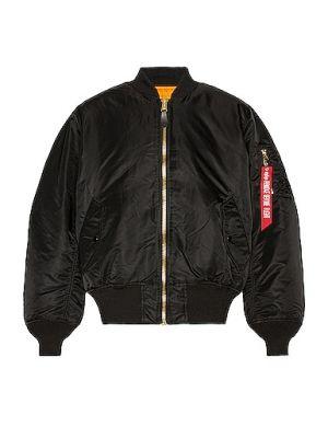 Черная куртка MA-1 с подкладкой Alpha Industries