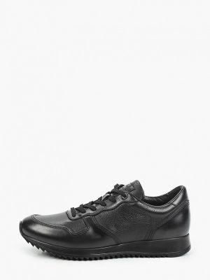Черные кожаные низкие кроссовки Roberto Piraloff