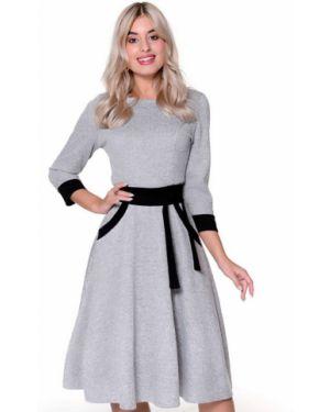 Платье с поясом платье-сарафан из вискозы Nikol